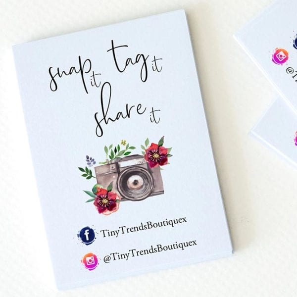 snap and tag cards