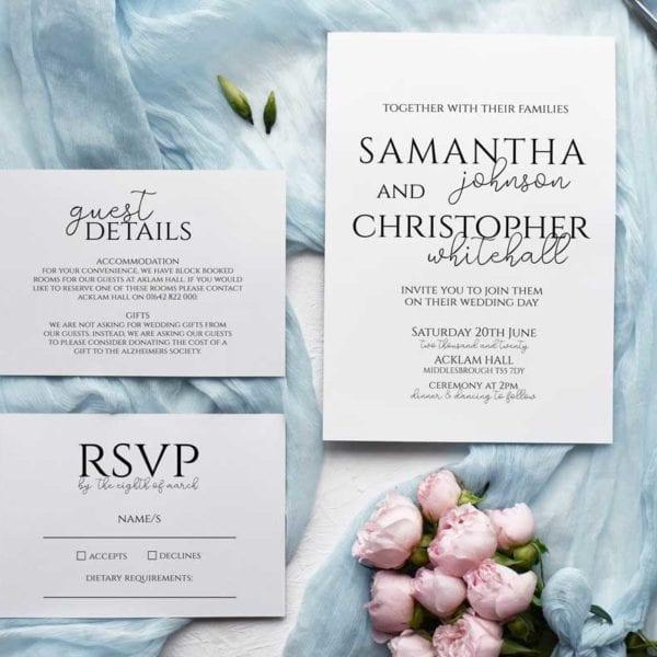 Samantha Wedding Invitation Set