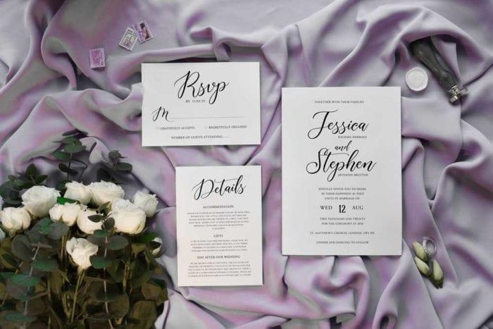 Annabelle wedding invitation set