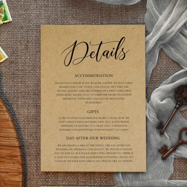 Bethany wedding invitation set