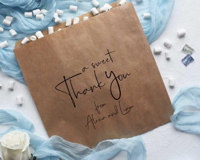A Sweet Thank You - kraft bag