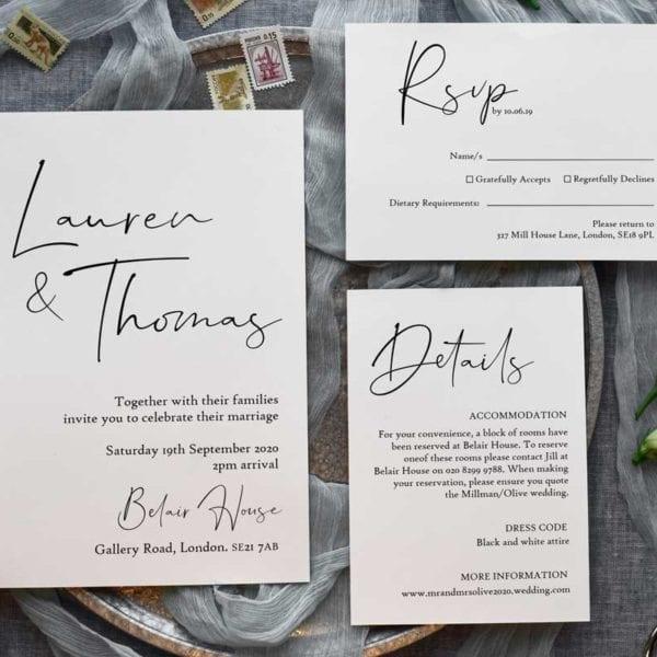 Florence Wedding Invitation Set