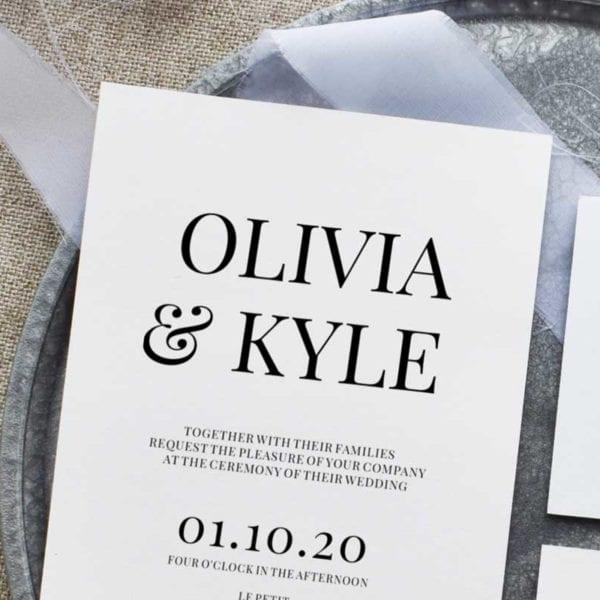 Olivia Wedding Invitation Set