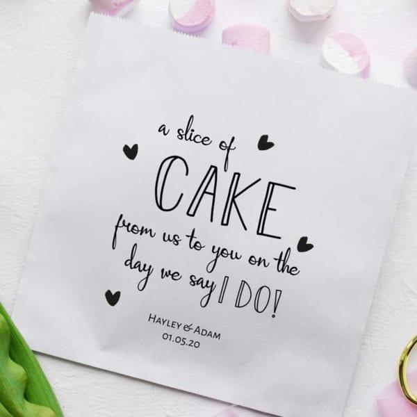 cake bags white