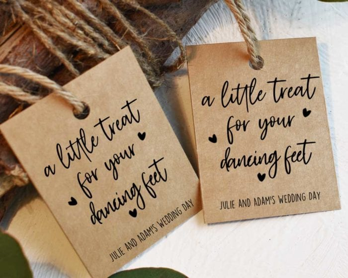 Rustic Dancing Feet Tags