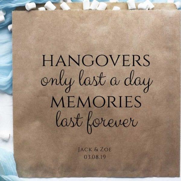 hangover bags kraft