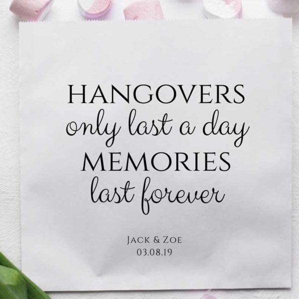 hangover bags white