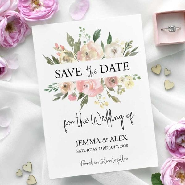 Jemma save the date card
