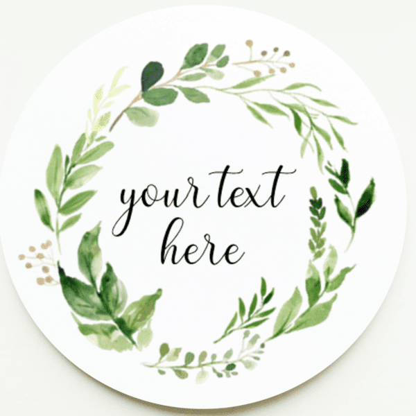 foliage wedding stickers