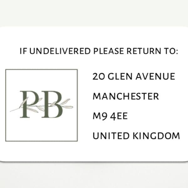 business logo return address labels