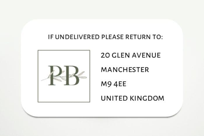 return address logo stickers