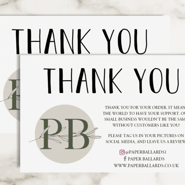 Logo Thank You - Business Card Sized