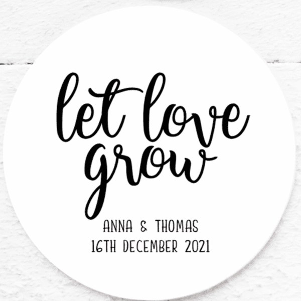let love grow stickers
