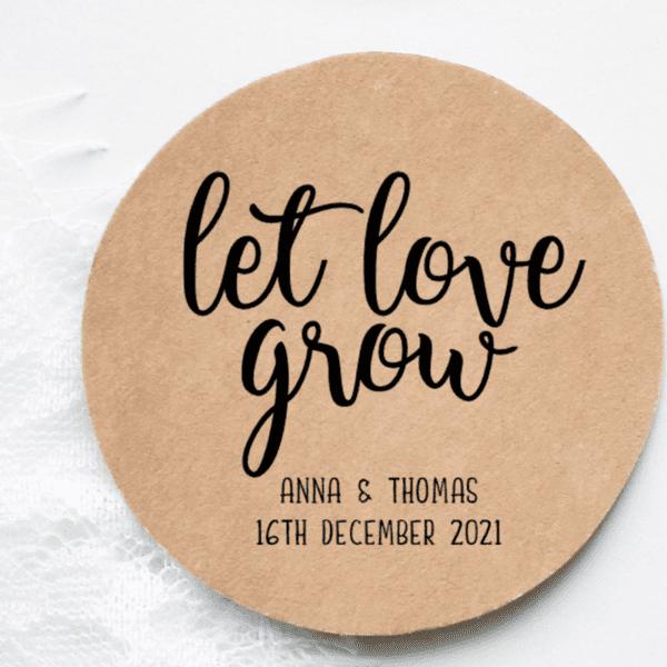 Rustic Let Love Grow stickers