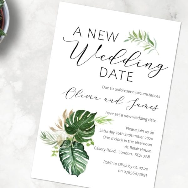 Postponed Wedding Cards