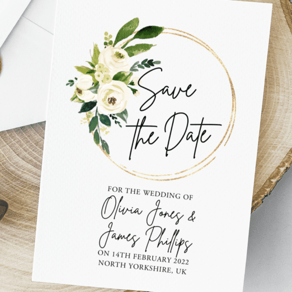 save the date engagement stationery