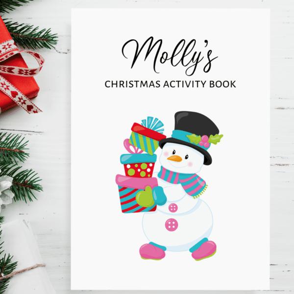 Children's Christmas Snowman Personalised Activity Books