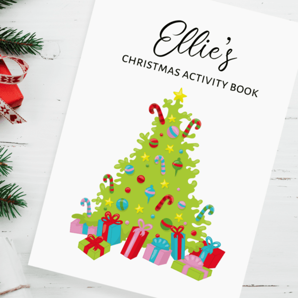 Children's Christmas Candy Cane Personalised Activity Books