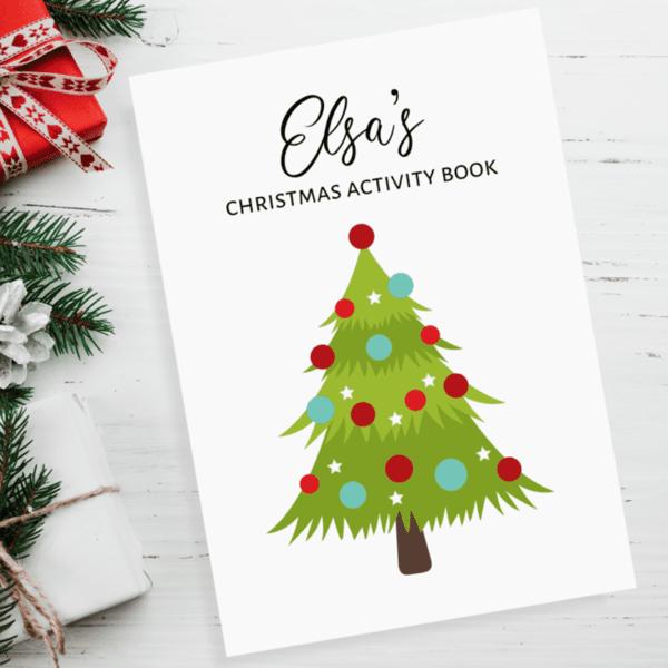 Children's Christmas Tree Personalised Activity Books