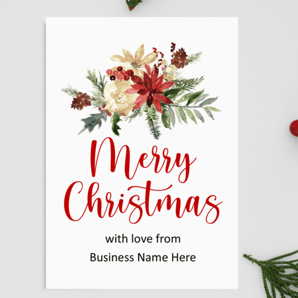 A5 Personalised Garland Business Christmas Card