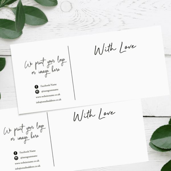Business Compliment Slips - With Love