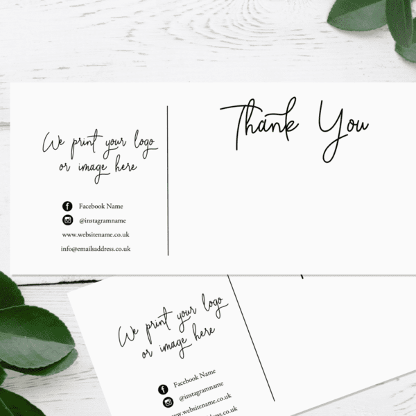 Thank You Compliment Slips