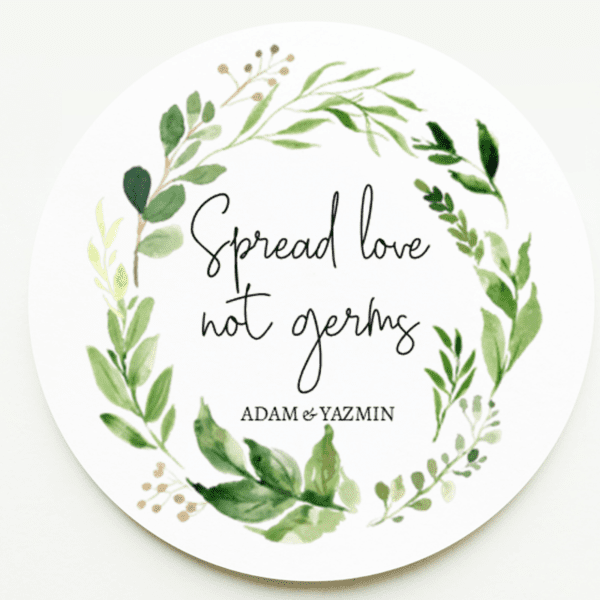 Spread Love Not Germs Stickers
