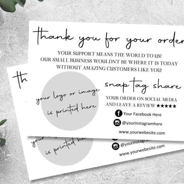 Business Thank you for your order cards, A6