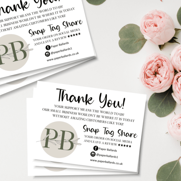 Business Logo Thank You Cards, A6