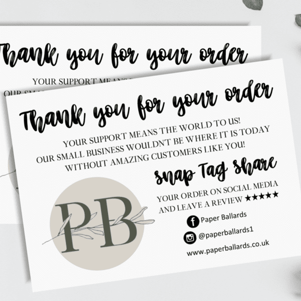 A6, Thank You Cards for Small Businesses