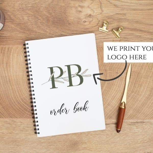 Business logo order book