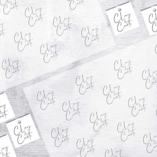 A4 Logo Translucent Wrapping Sheets (Pack of 10)